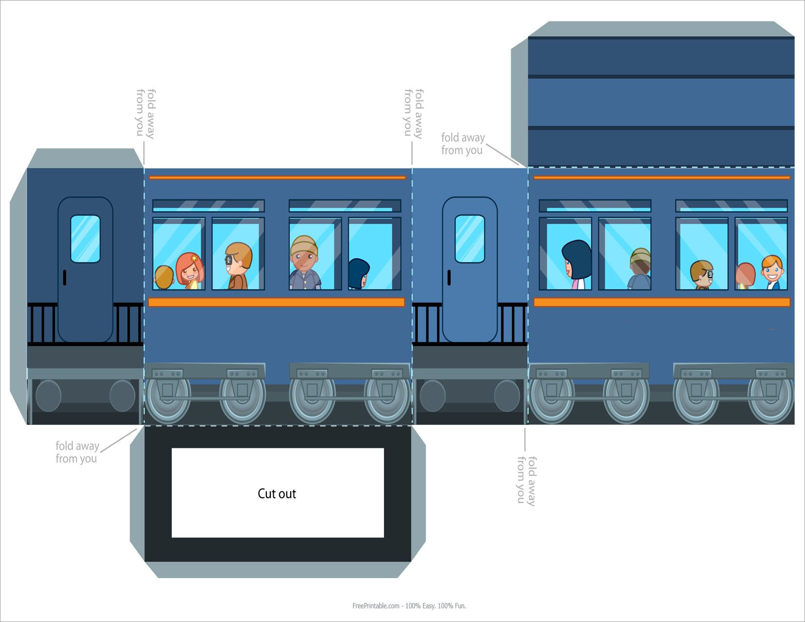 Train Papercraft Printable Passenger Train Papercraft Download Free