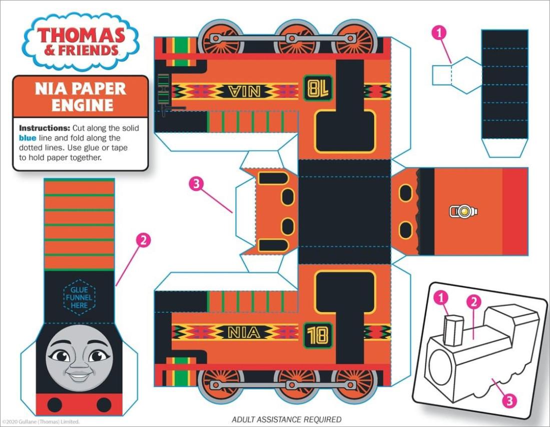 Train Papercraft Train Papercraft for Kids