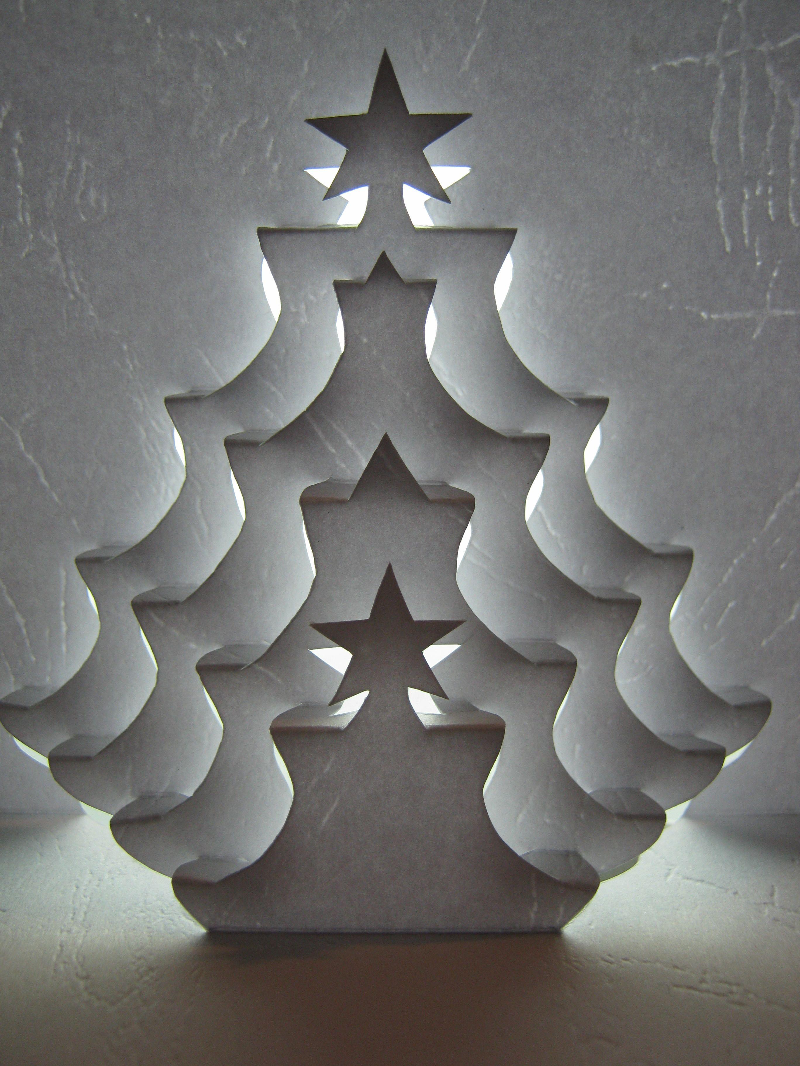 Tree Papercraft Arbol De Navidad Elaborado Con La Técnica De Kirigami Dificil Pero