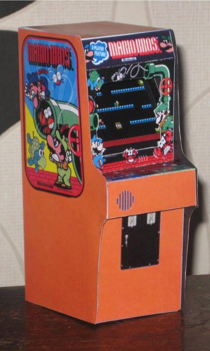 Tron Papercraft Mario Bros Arcade Cabinet by Paperartviantart On Deviantart