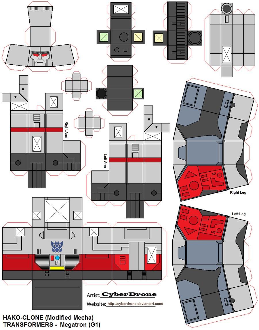 Tron Papercraft Megatron Papercraft Credit to