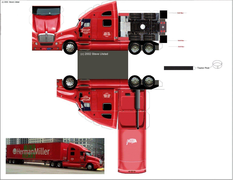 Truck Papercraft 39 1540—1189 Paperctaft Models Pinterest