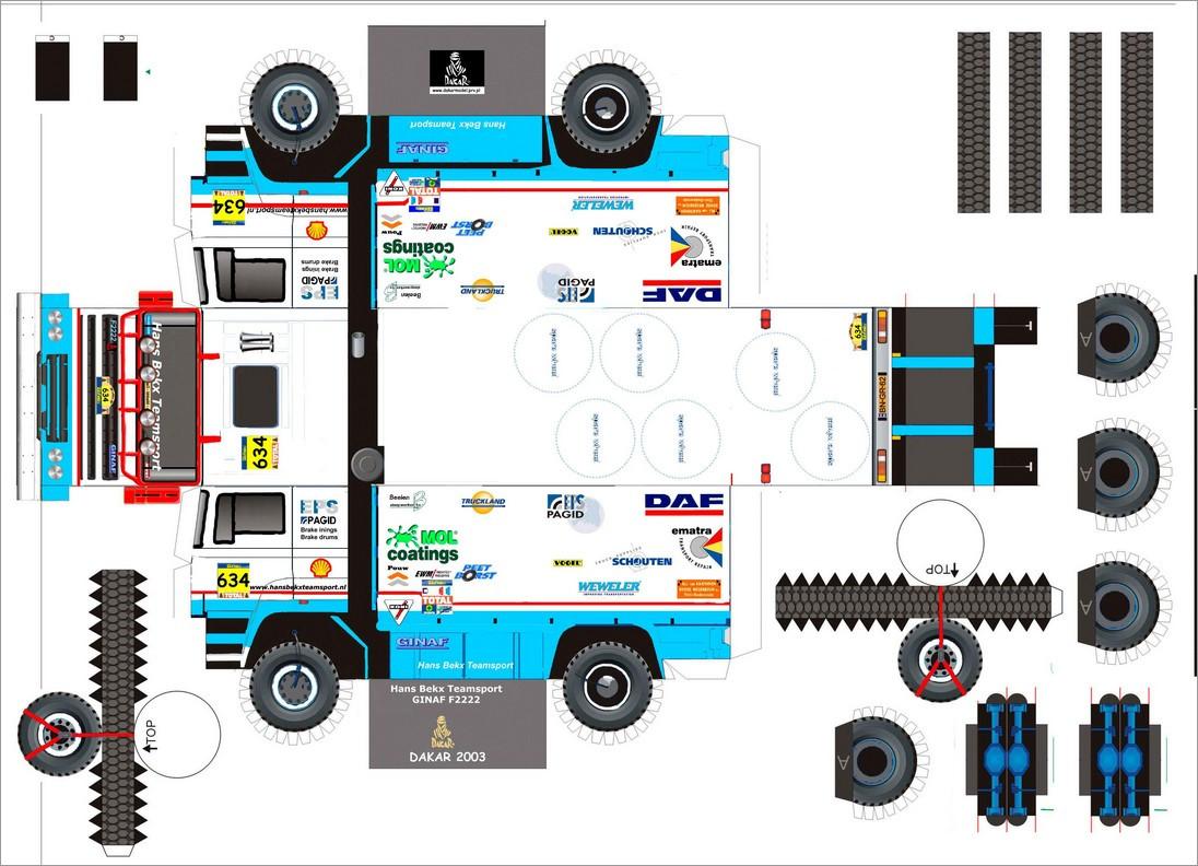 Truck Papercraft Ginaf F2222 Truck Papercraft