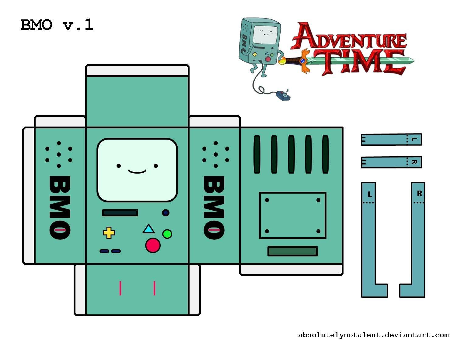 Tubbypaws Papercraft Bonecos 3d Hora De Aventura 2 Luti1 Pinterest