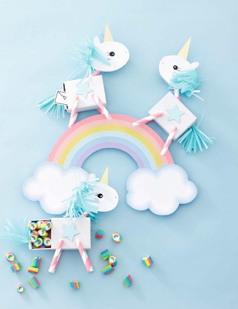 Unicorn Papercraft Einhornschachteln – Wundertütchen School Supplies