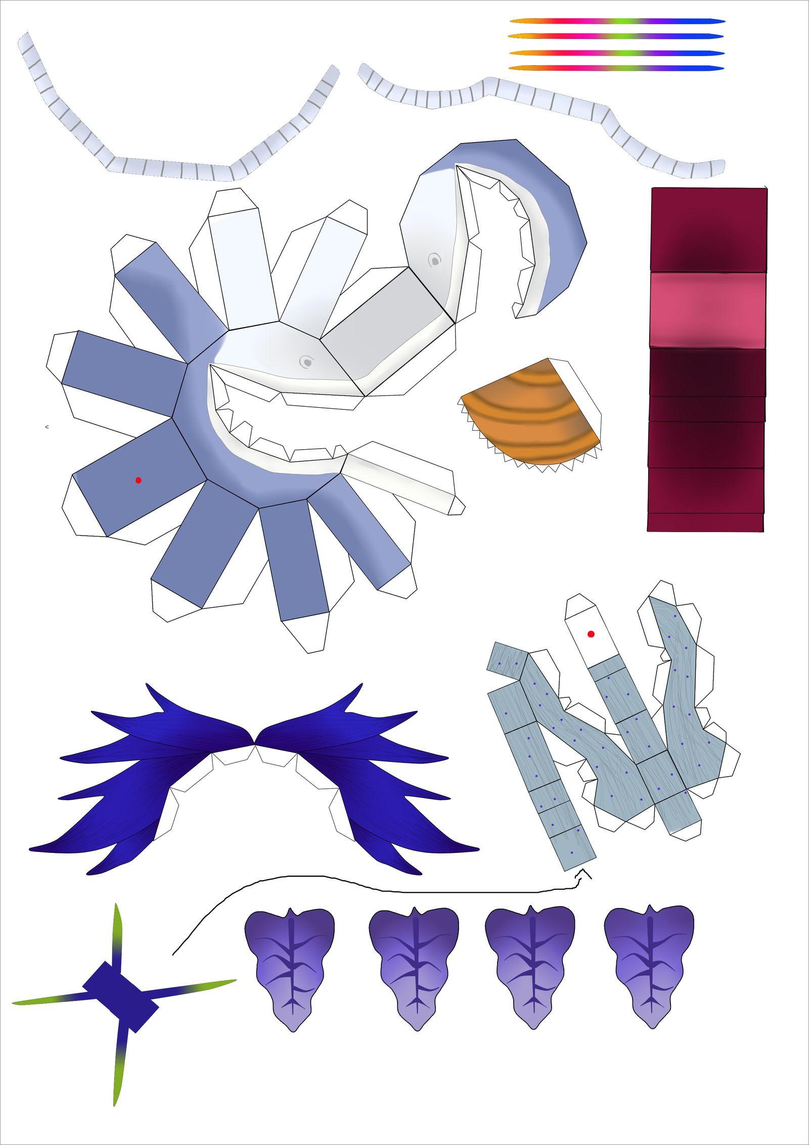 Unicorn Papercraft Unicorn Chomper Papercraft by Foolishpaper3347 On Deviantart