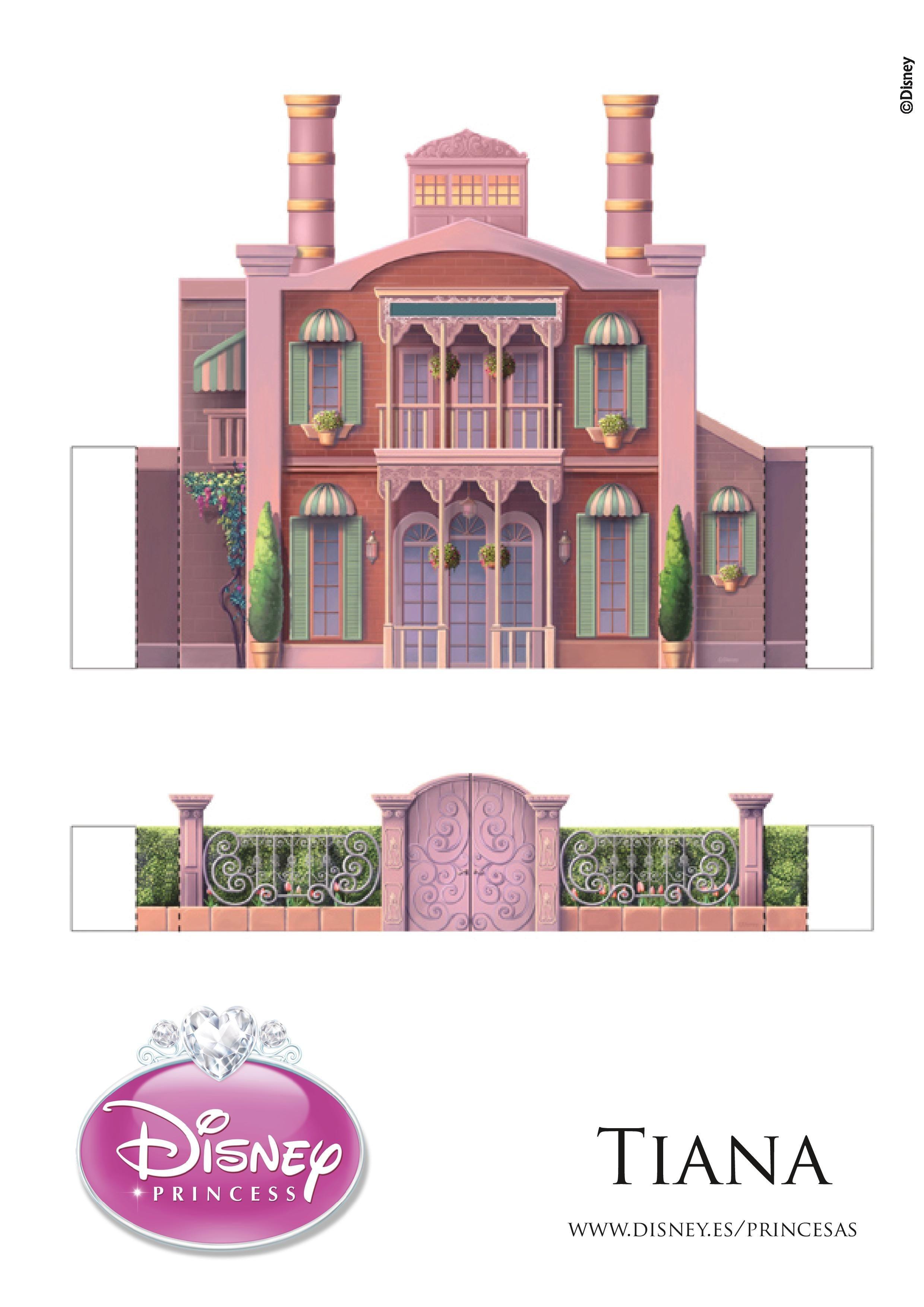 Up House Papercraft Castillo De Tiana Бумажные фигурки коробочки Pinterest