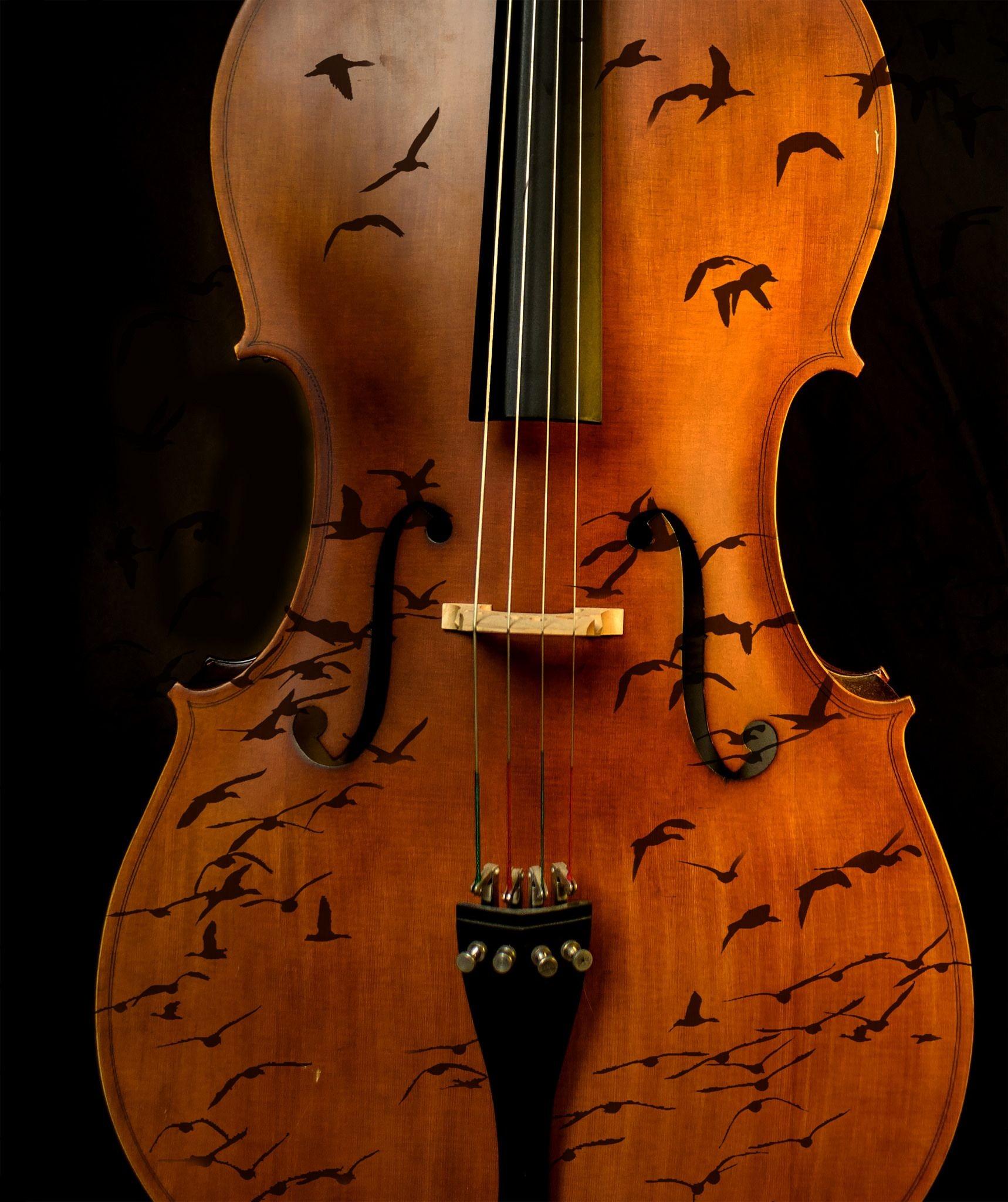 Violin Papercraft Cello Bird In Explore 玩藝 Pinterest