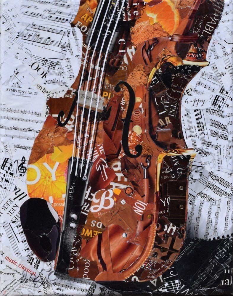 Violin Papercraft Grandpa S Fiddle Art Pinterest
