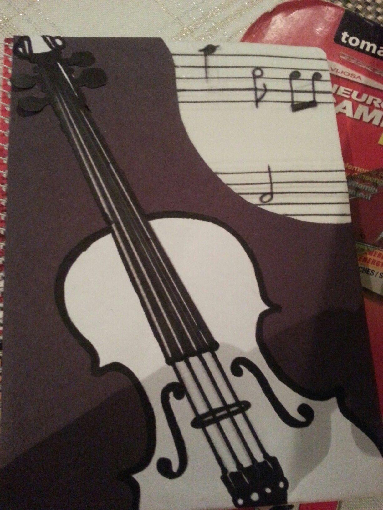 Violin Papercraft Libreta Decorada Con Violn Mºsica Creaciones Gageda