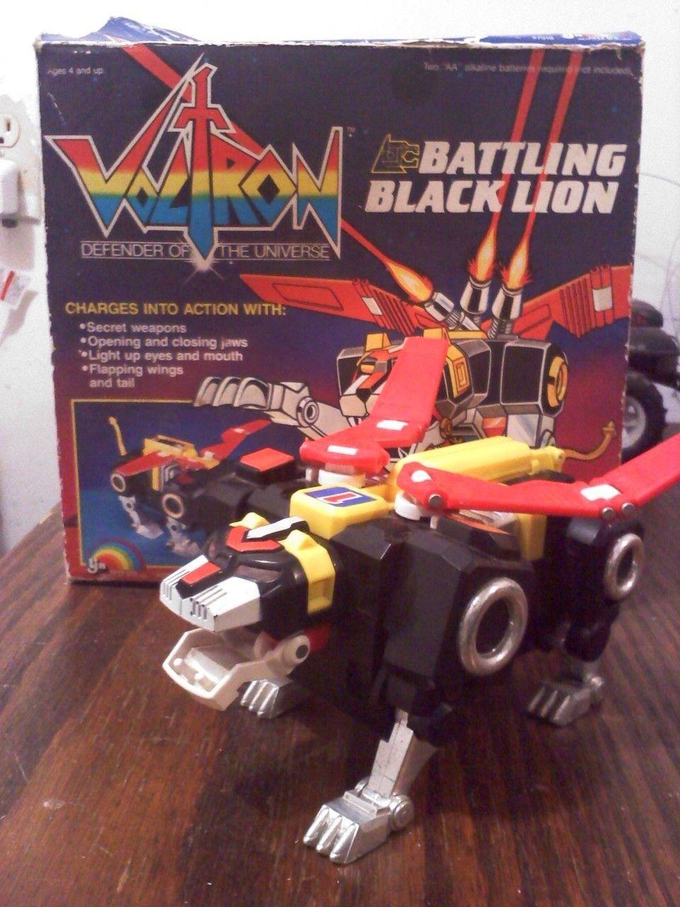 Voltron Papercraft Voltron Battling Black Lion Vintage toys Pinterest