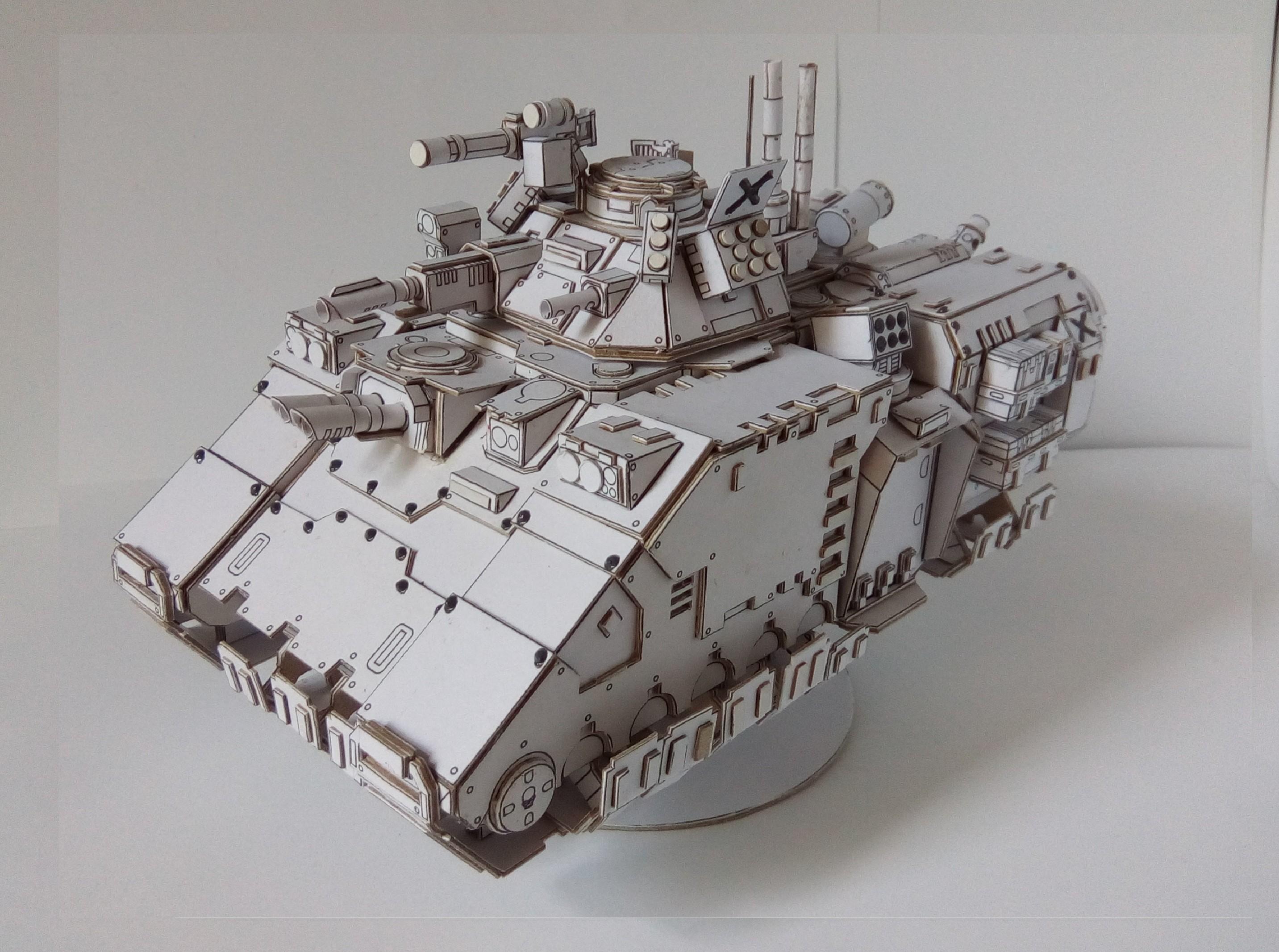 Warhammer 40k Papercraft Тестовая сборка бумажного Primaris Repulsor видео Wh Papercraft
