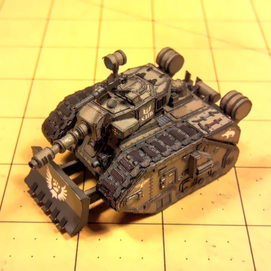 Warhammer 40k Papercraft Leman Russ Dominator Paper Model Papercraft