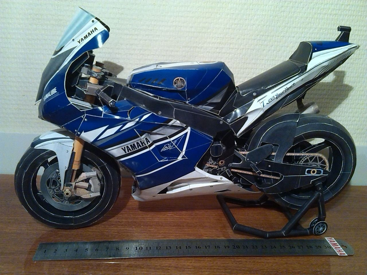Yamaha Papercraft Motorcycle Precise Paper Craft Vol 6 Automatic Super Suport 2002 Model