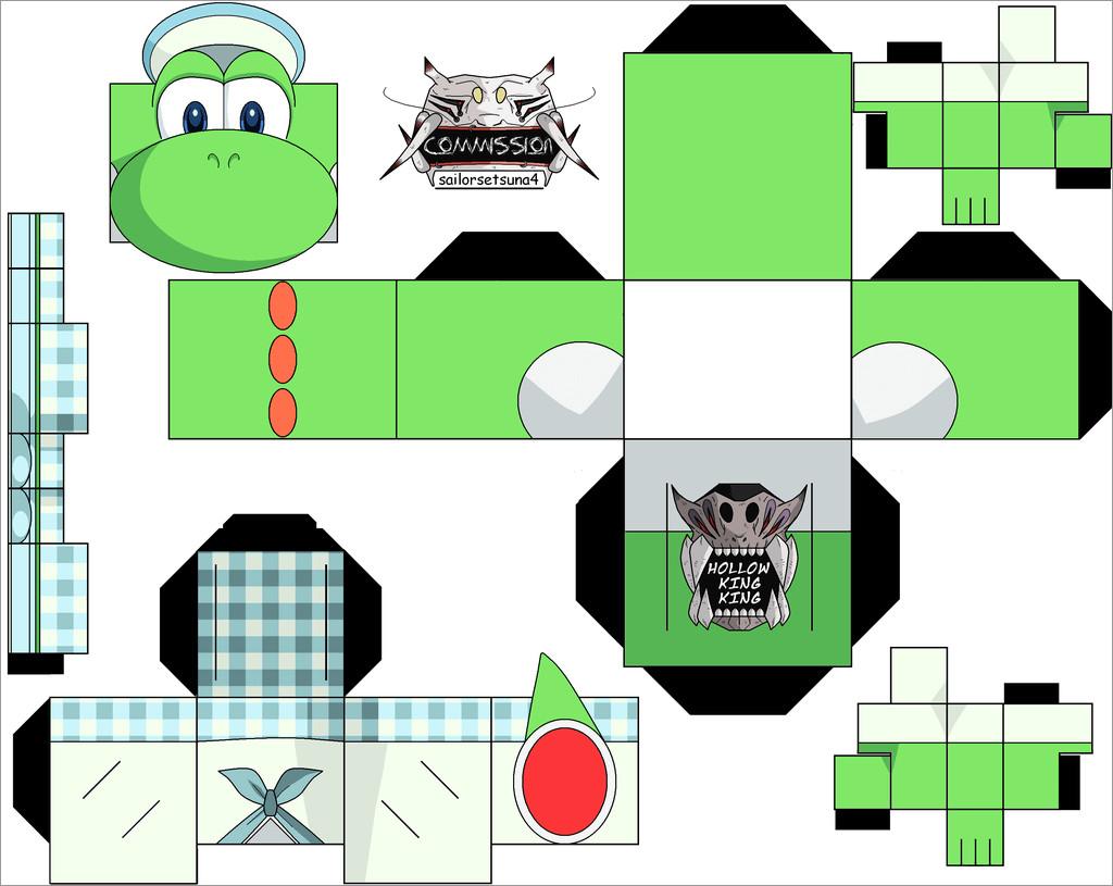 Yoshi Papercraft Yoshi 3ds Papercraft Free Download