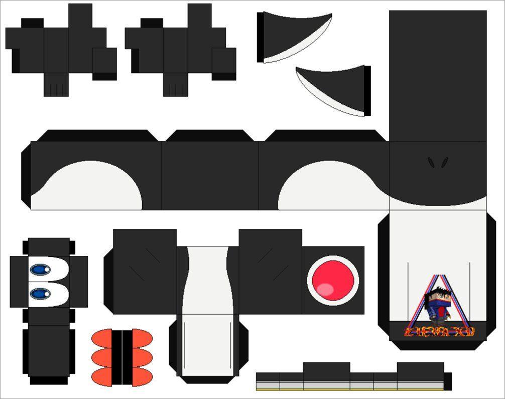 Yoshi Papercraft Yoshi Black Cubeecraft Papercraft