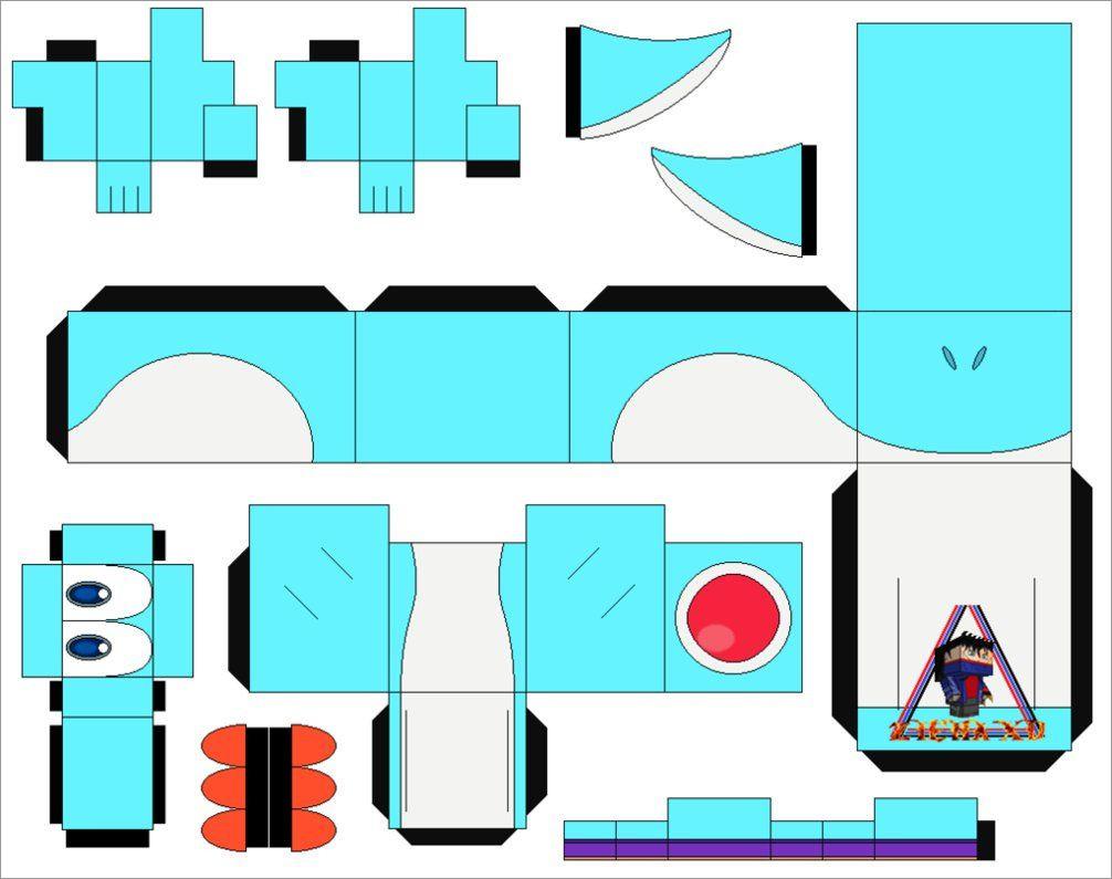 Yoshi Papercraft Yoshi Light Blue Cubeecraft Papercraft