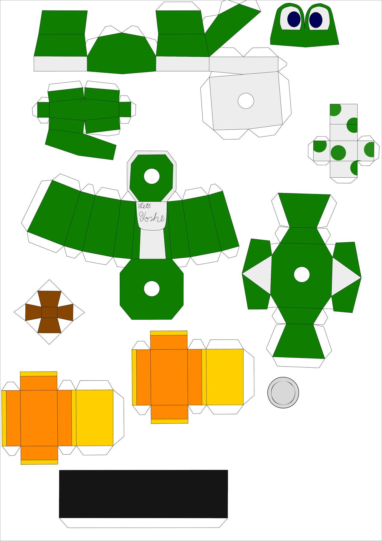 Yoshi Papercraft Yoshi Papercraft Simple