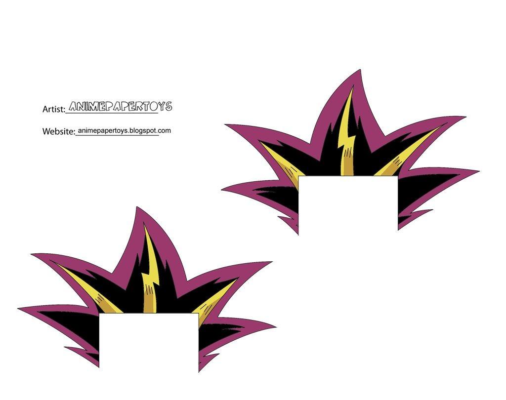 Yugioh Papercraft Má i Kch ThÆ°á ›c 109 Yugi Yami 2 Yu Gi Oh