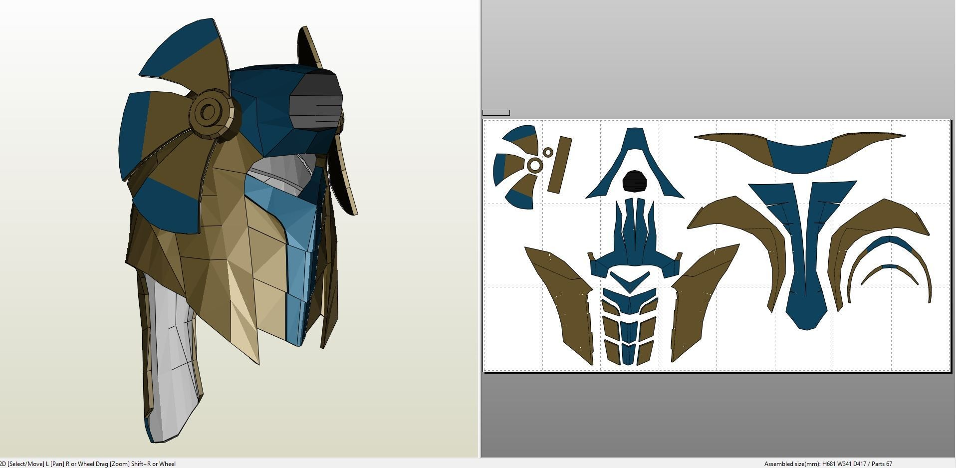 Yugioh Papercraft Papercraft Pdo File Template for Doktor who Cyberslave Helmet