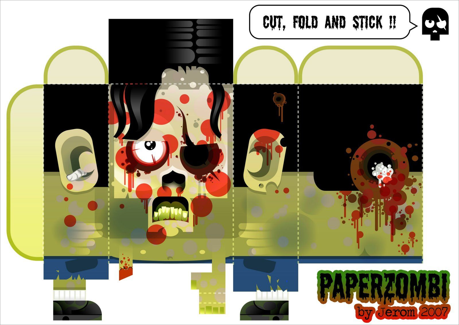 Zombie Papercraft Zombie Papercraft Template Free Download