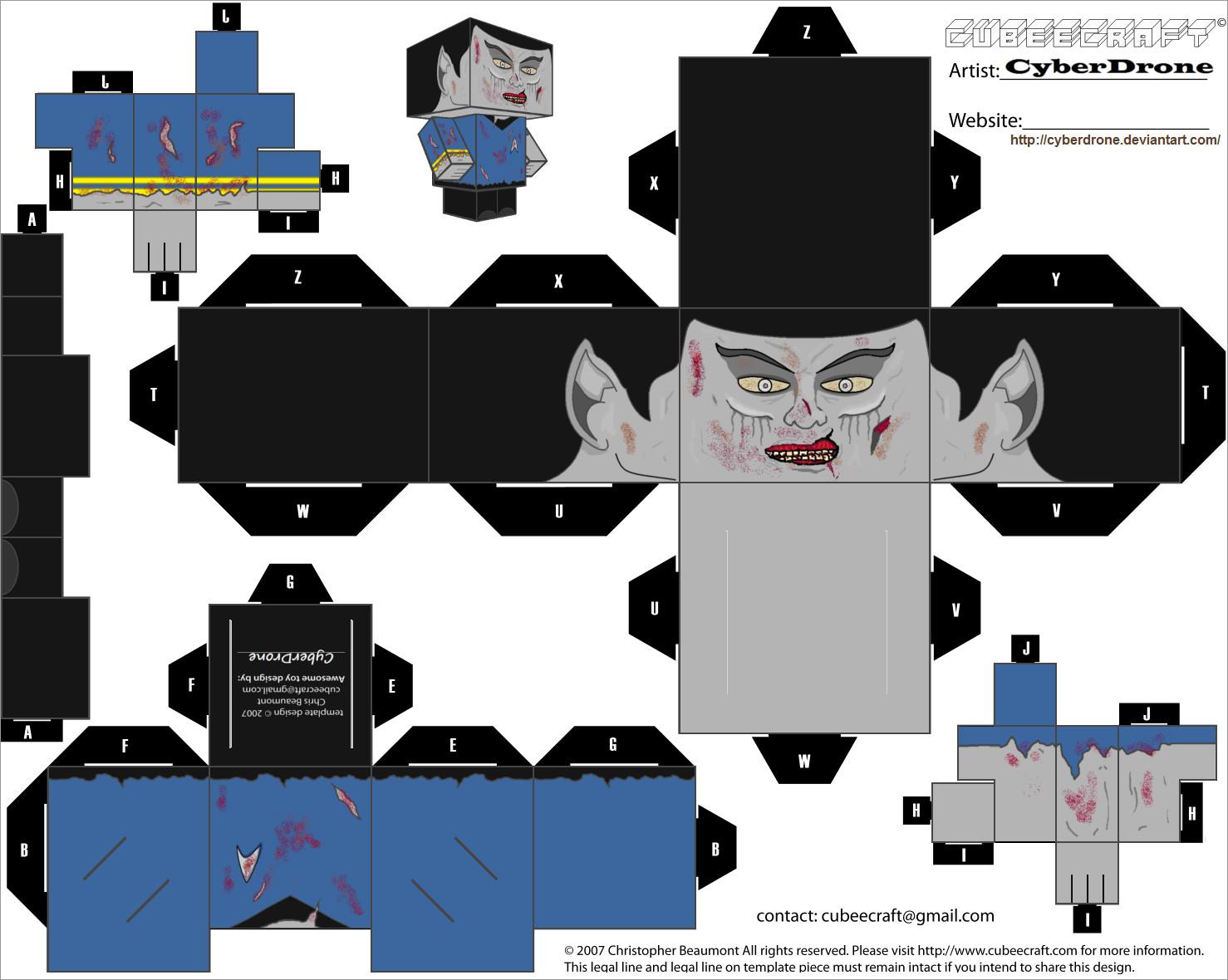 Zombie Papercraft Zombie Spock Papercraft