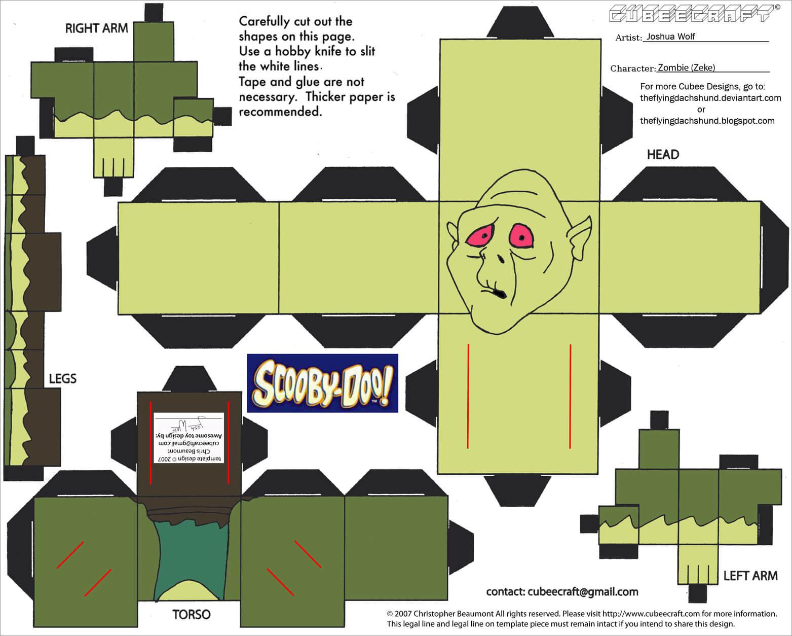 Zombie Papercraft Zombie Zeke Papercraft